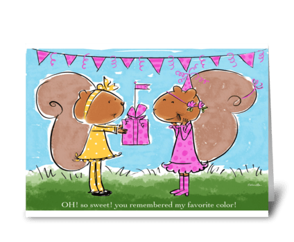 Sweet Birthday Friend greeting card