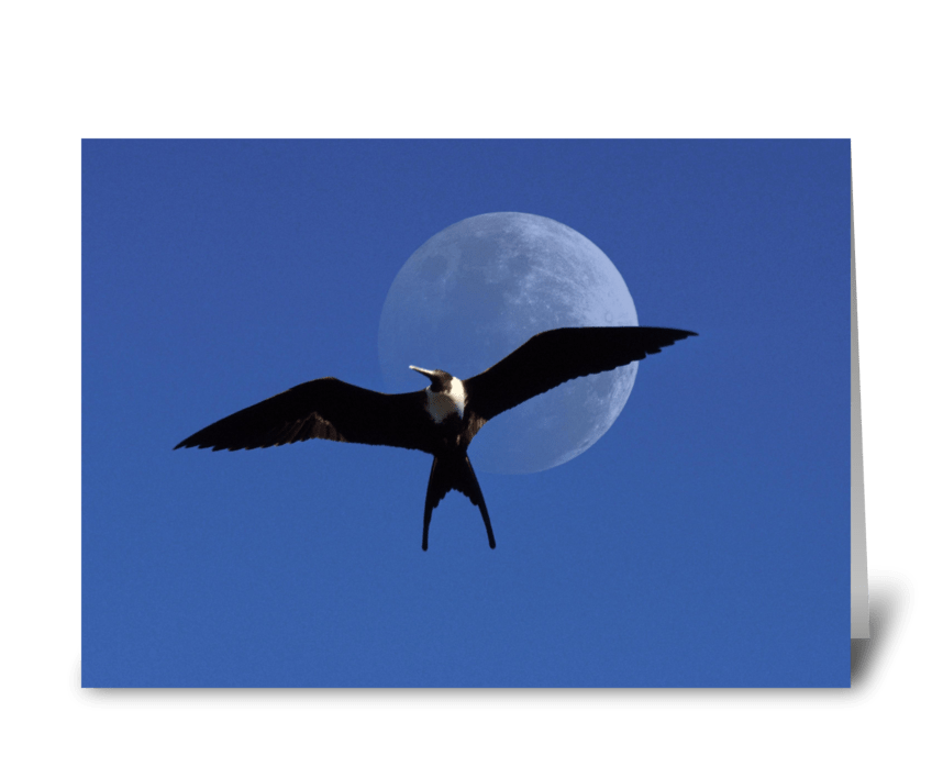 Frigate Moon greeting card