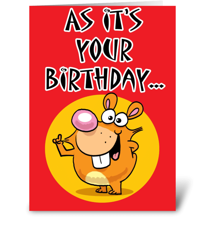 Nuts Birthday card greeting card
