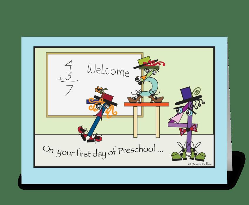 Preschool First Day greeting card