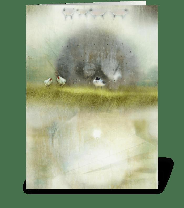 Hipstabirds greeting card