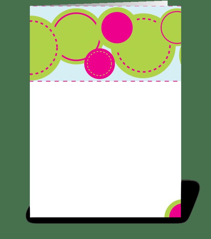 Happy Circles greeting card
