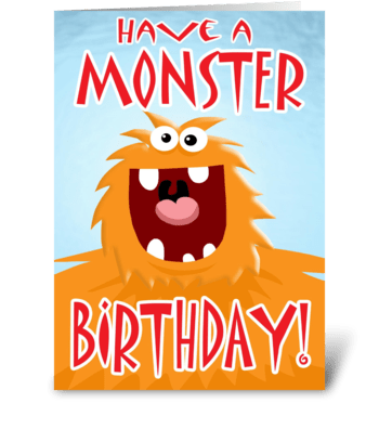 Monster Birthday card(With interior art) greeting card