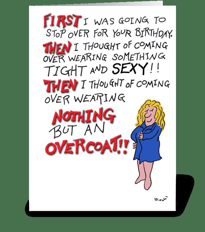 Overcoat greeting card