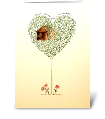 New Home Tree greeting card