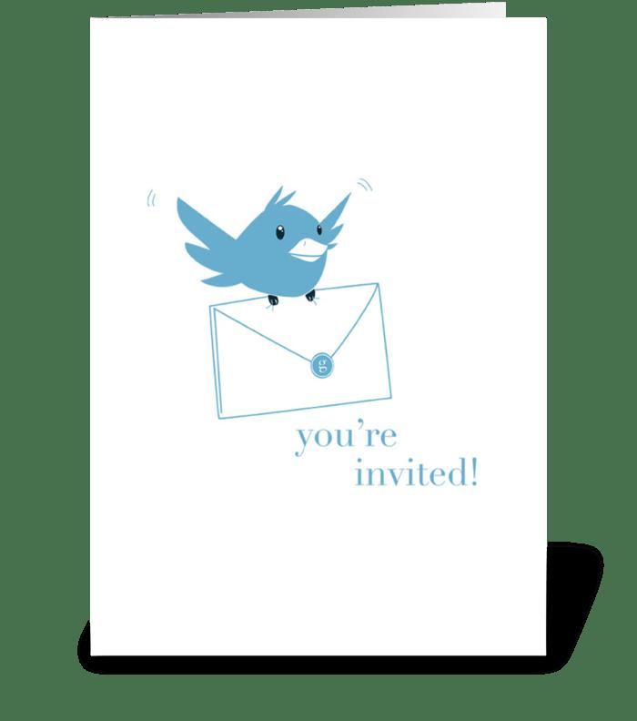 Bluebird Invitation greeting card