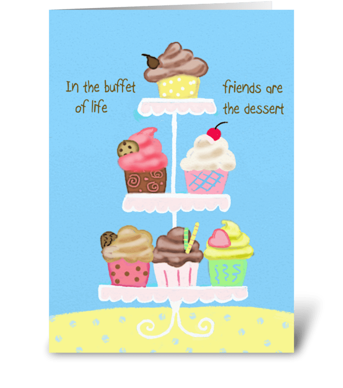 In the buffet of life greeting card
