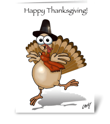 Happy Thanksgiving Turkey greeting card
