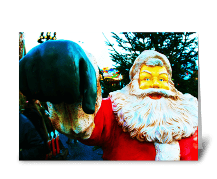 Santa Claus in Holland greeting card