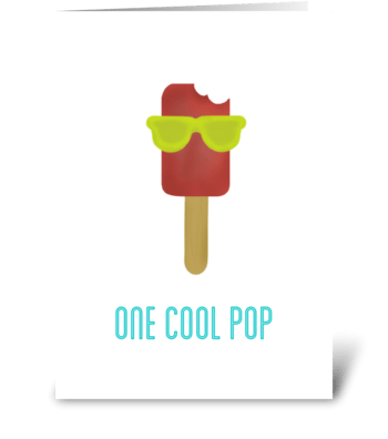 One cool POP greeting card