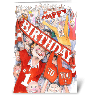 Birthday fans greeting card