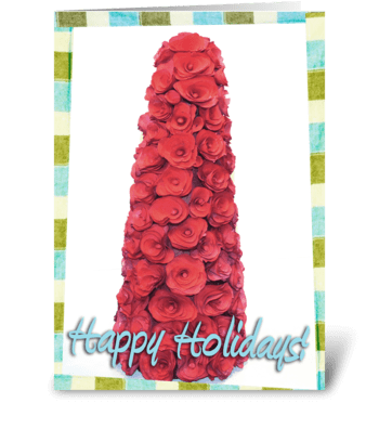 Retro Holiday Tree greeting card