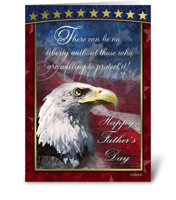 Patriotic Father's Day Card greeting card