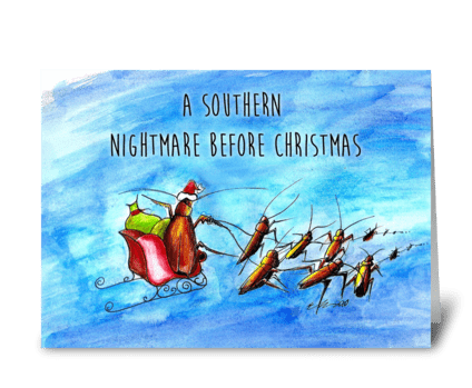 Southern Nightmare Before Christmas greeting card