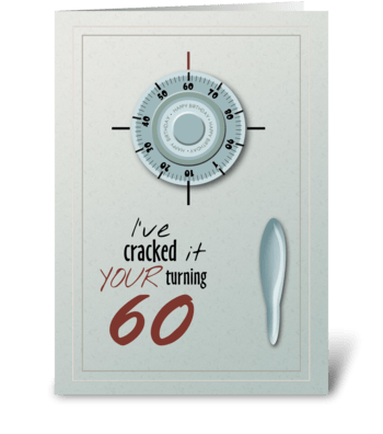 Secret is Safe Turning 60 - Happy Birthd greeting card