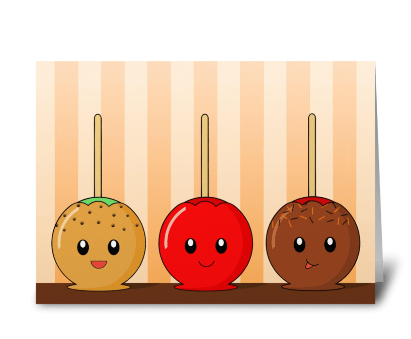 Candy Apples  greeting card