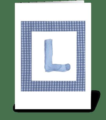 L - Baby Boy greeting card