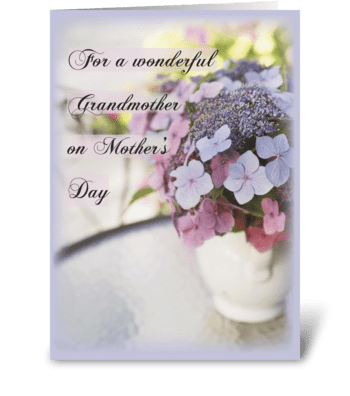 Grandmother on Mother's Day Flowers greeting card