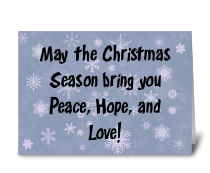 May The Christmas Season Bring You ... greeting card