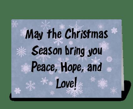 May The Christmas Season Bring You ... greeting card