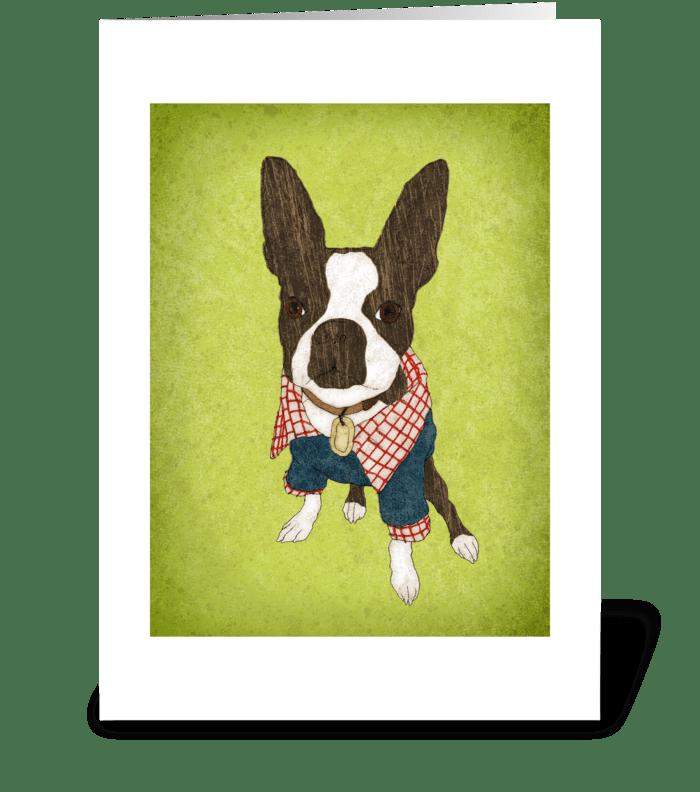 Tiny Pimp Greeting Card greeting card