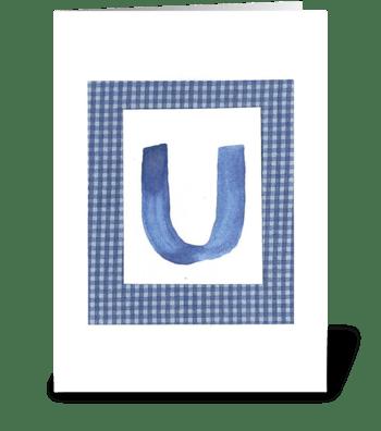 U - Baby Boy greeting card