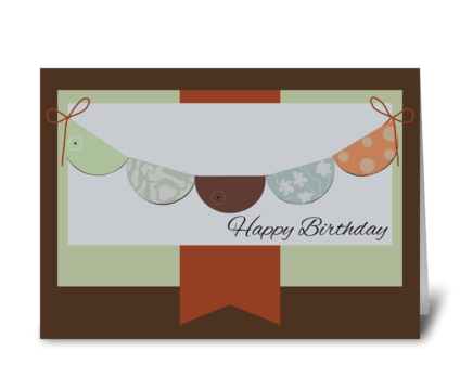 Happy Birthday bunting card greeting card