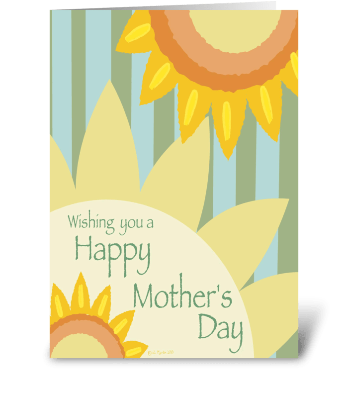 Sunflower Mother's Day Card greeting card