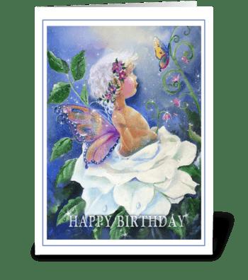 HAPPY BIRTHDAY, Garden fairy greeting card