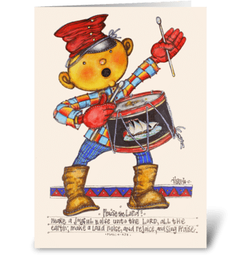 Little Drummer Boy greeting card