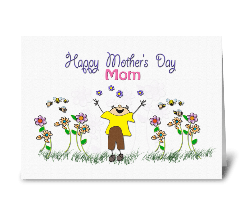 from Son, Happy Mother's Day greeting card