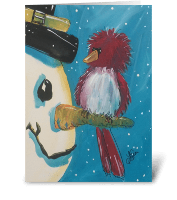 Winter Friend greeting card