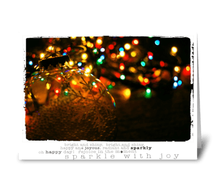Christmas Tree Lights greeting card
