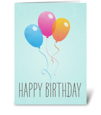 Bithtday Balloons greeting card