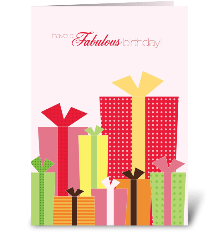 Ready for gifts (pink) greeting card