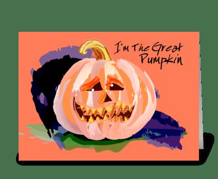 Pumpkin Head greeting card