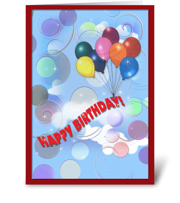 Whimsical Birthday Greeting greeting card