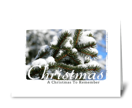 Christmas to remember greeting card