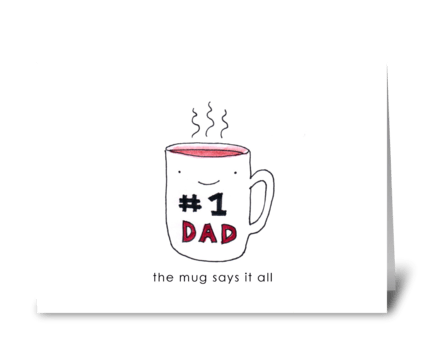 #1 Dad greeting card