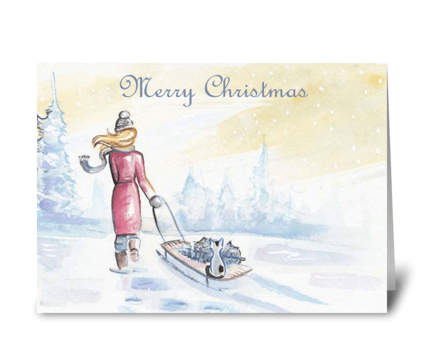 Merry Christmas Greeting Card - Send this greeting card designed by ...