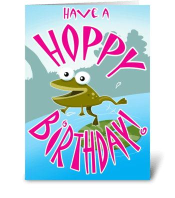 Have a Hoppy Birthday greeting card