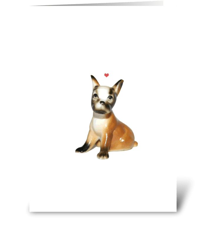 Dear Little Dog greeting card
