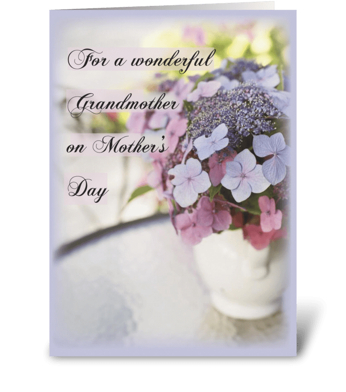 Grandmother, Mother's Day Flowers greeting card