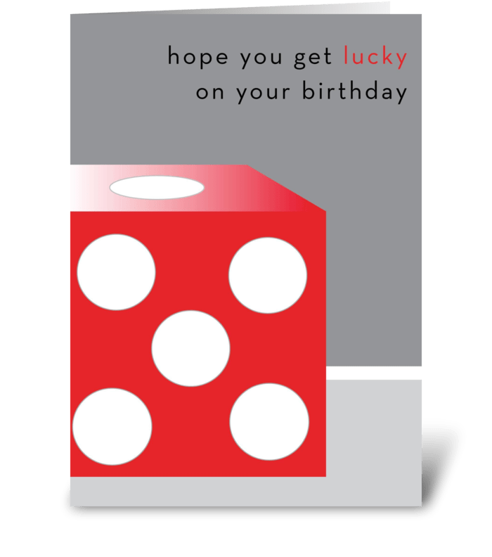 Get lucky greeting card