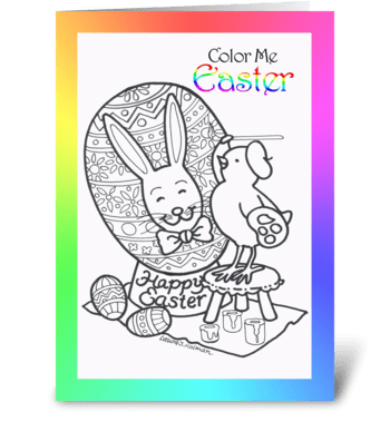 Color Me Easter Card greeting card