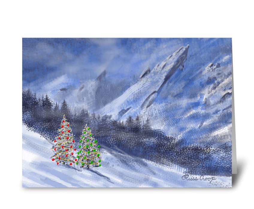 Flatirons Christmas greeting card
