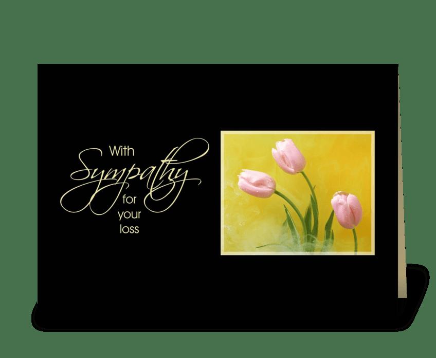 Sympathy Tulips greeting card