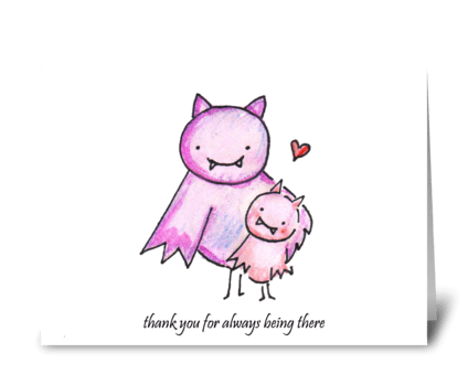 Batty Thank You greeting card