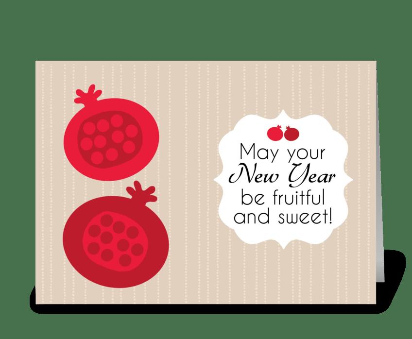 Rosh Hashanah - Fruitful Wishes greeting card