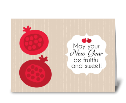 Rosh Hashanah - Fruitful Wishes greeting card